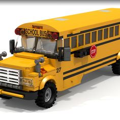"""School Bus The yellow school bus is common sight growing up in the United States and around the world. For many people, it symbolizes childhood and education. I based the design on a mix of the most common school bus styles, and I wanted it to have a """"classic"""" feel, so it is not based on one specific era. The set includes children who are riding the bus, as well as the bus driver, a safety crosswalk person, and parent waiting for the bus with the children. It would be a great addition to any…"""