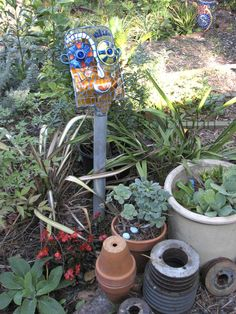 Ro Bruhn - one of my mosaic garden ornaments