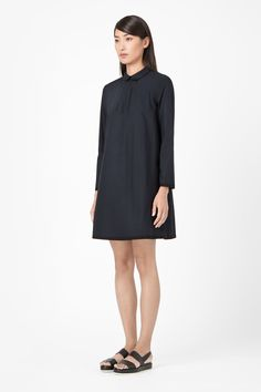 Rounded collar dress