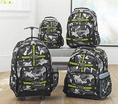 Gray Shark Camo Backpacks - Small size for Caleb.