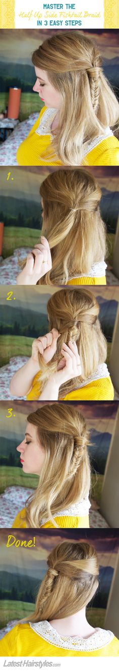 Master the Half Up Side Fishtail Braid in 3 Easy Steps
