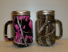 set of redneck beer mugs in Muddy Girl and Next camo by ruttincamo for $37.50