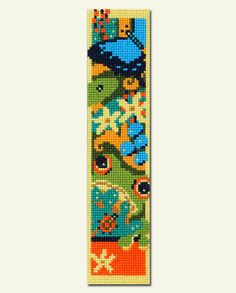 Australian Rainforest Bookmark Counted Cross Stitch Kit with Frog and Butterfly on Etsy, $15.51