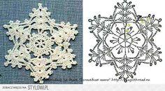 Crochet Knitting Handicraft: New Year's Snow Crochet Snowflake Pattern, Christmas Crochet Patterns, Crochet Snowflakes, Crochet Motif, Crochet Doilies, Crochet Flowers, Crochet Angels, Crochet Stars, Crochet Baby Dresses