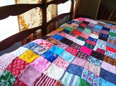 Vintage Large Patchwork Quilt Blanket
