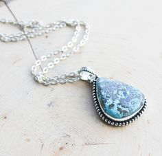 Hey, I found this really awesome Etsy listing at https://www.etsy.com/listing/219852624/chrysocolla-silver-pendant-necklace