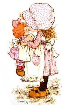 Sarah Kay Kristyl loved anything that resembled Holly Hobby. Sarah Key, Holly Hobbie, Illustrations Vintage, Ann Doll, Raggedy Ann And Andy, Cute Little Girls, Vintage Cards, Vintage Children, Cute Art