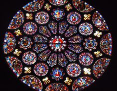 """mediumaevum: """" South rose window of Cathédrale Notre-Dame de Chartres with Gothic stained glasses. A bit of medieval psychedelia :) """" Medieval Stained Glass, Stained Glass Angel, Faux Stained Glass, Stained Glass Windows, Leaded Glass, Pattern Wall, L'art Du Vitrail, Saint Chapelle, Digital Foto"""
