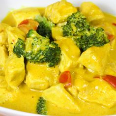 Broccoli Curry, Low Carb Curry, Law Carb, Healthy Recepies, Curry Sauce, Eat Smart, Macaroni And Cheese, Food Porn, Dinner Recipes