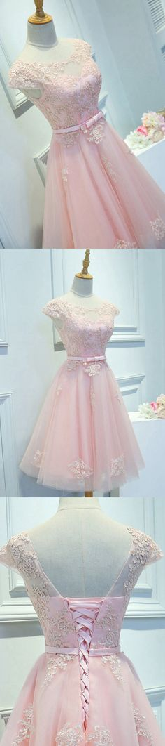 Light Pink Homecoming Dress,Short Prom Dress,Back To School Dresses, Prom Dresses For Teens - Thumbnail 2