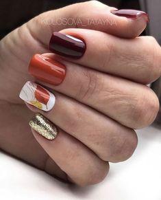 Fall Toe Nails, Cute Nails For Fall, Fall Acrylic Nails, Nail Colors For Fall, Nails For Autumn, Fall Nail Art Autumn, Shellac Nails Fall, Winter Nails, Fancy Nails