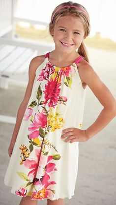 From CWDkids: Floral Drawstring Dress $69.50, sale $39.99