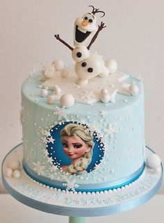 Best Birthday Cake Ideas For Girls: Frozen Cake - Elsa Cake Olaf Birthday Cake, Unique Birthday Cakes, Frozen Themed Birthday Party, Birthday Cake Girls, Elsa Birthday, 22 Birthday, Birthday Parties, Turtle Birthday, Princess Birthday