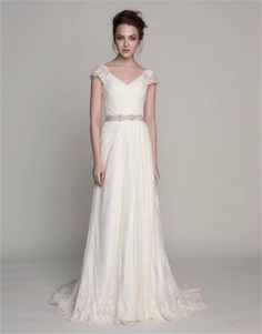 Madeline Wedding Dress by Kelly Faetanini beautiful lace and cap sleeves