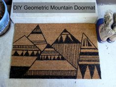 Smart n Snazzy: DIY ~ Geometric Mountain Doormat