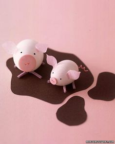 Easter Egg Decorating Idea: Pigs! By Craft Gossip