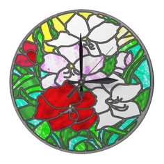 Stained Glass Wallclocks