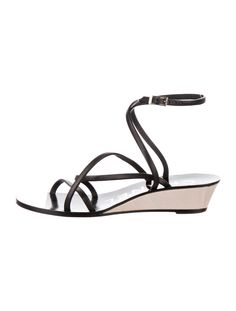 Chanel Leather SandalsBlackInterlocking CC LogoWedge HeelsStraps & Buckle Closure at AnklesDesigner Fit: This style typically runs narrow and a half size to a full size small. Black Sandals, Leather Sandals, Chanel News, Outdoor Brands, Chanel Shoes, Real Style, Buy Shoes, Strap Heels, Luxury Consignment