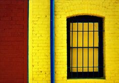 Yellow and blue window by Daniel Schwabe, via Flickr