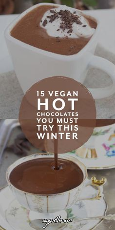 There's nothing like turning up the heat and making yourself a hot chocolate drink during winter. Dark warm vegan hot chocolate, to vegan chai hot chocolate Vegan Hot Chocolate, Dessert Recipes, Desserts, Sweet Tooth, Vegan Recipes, Food And Drink, Yummy Food, Snacks, Meals