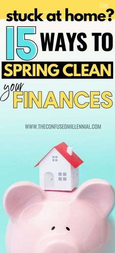 15 Ways To Spring Clean Your Finances This Year - The Confused Millennial Make More Money, Ways To Save Money, Money Tips, Lexington Law, Budgeting Finances, Budgeting Tips, Improve Credit Score, Finance Organization, Cleaning Checklist