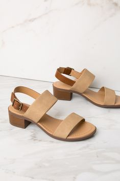 Beige Faux Leather Ankle Strap Heel Faux leather ankle strap heel featuring a side buckle closure and a rounded open toe. Ankle Strap Heels, Ankle Straps, White Block Heel Sandals, Women's Shoes Sandals, Shoe Boots, Olympia Shoes, Maternity Maxi, Shoe Closet, Summer Shoes