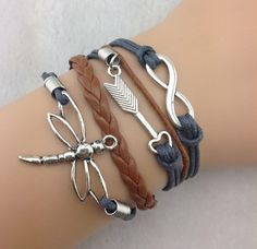 bracelet1pcs Infinity Arrow and Dragonfly by 4seasonscreation, $4.39