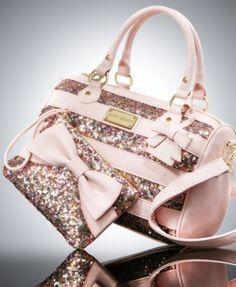 Betsey Johnson Sequin Satchel & Wristlet Gift Set, yes please! Betsy Johnson Purses, Betsey Johnson Handbags, Handbag Accessories, Accessories Online, Cute Purses, Cute Bags, Backpack Purse, Purses And Handbags, Gucci Purses