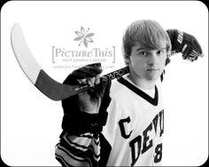 high school senior photography  hockey www.picturethisphotodesign.com www.facebook.com/picturethisphotography