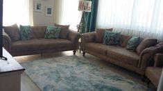 Aşkım hanımın açık mavi ve kahve ile dinlendirici ve rahat evi.. Pastel Decor, Sofa, Couch, Modern, Furniture, Home Decor, Settee, Settee, Trendy Tree