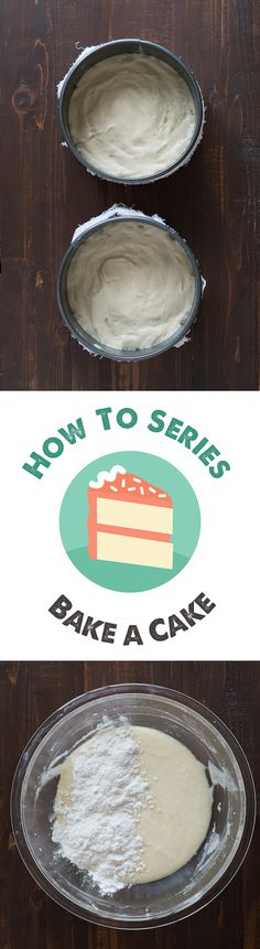 How to Bake a Cake - a step by step picture tutorial!
