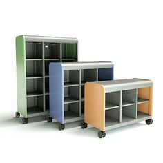 The Cascade Cubby offers an open-shelf layout for maximizing storage in any classroom setting. Description from smithsystem.com. I searched for this on bing.com/images
