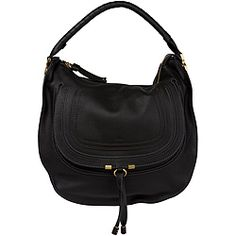 @Overstock - This designer Marcie hobo by Chloe features an embossed, U stitched design at the front flat pocket and a twisted handle at the zip-top opening. This black, leather-constructed bag was beautifully crafted in Italy and is lined with olive canvas.  http://www.overstock.com/Clothing-Shoes/Chloe-Marcie-Large-Black-Leather-Hobo/6596182/product.html?CID=214117 $1,399.99