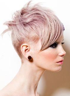 felnyírt női frizurák - alul felnyírt női rövid frizura