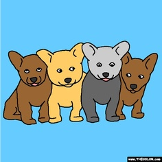 new puppies coloring page color these cute puppies on thecolorcom http