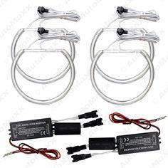 4Pcs/set  Car CCFL Halo Rings Angel Eyes Headlights for BMW E46,E36,E38,E39 Light Kits White #J-4170