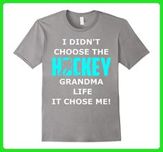 Mens Hockey Grandma Life It Chose Me Mother Day Funny  Shirt XL Slate - Relatives and family shirts (*Amazon Partner-Link)