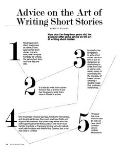 "Roberto Bolaño's 12 Tips on ""the Art of Writing Short Stories""Bolano Advice"