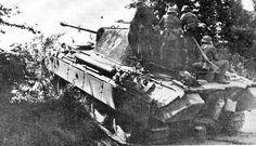 Le Panther 219 de la 12. SS-Panzer-Division « Hitlerjugend » sur le front Normand.