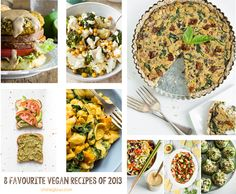 8 Favourite Vegan Lunch & Dinner recipes from 2013!