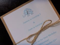 Elephant Invitation12 Cards and by JudeBugsBabySweets on Etsy, $24.00