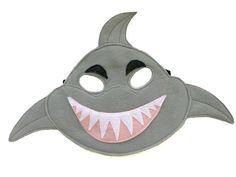 Children's SHARK Felt Mask by magicalattic on Etsy