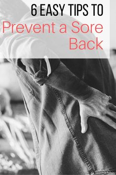 Sore bac remedies, Sore back relief, Sore back stretches, Sore back exercises, How to get rid of a sore back, #SoreBack #BackPain #BackAche #BackPainRelief #BackRelief