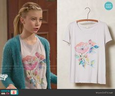 Avery's floral tee on Dog with a Blog.  Outfit Details: http://wornontv.net/51823/ #DogwithaBlog