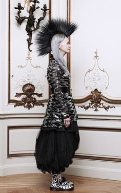 Sequin Illusion Tulle Dress With Studded Collar by Rodarte Now Available on Moda Operandi