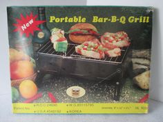 Portable Bar-B-Q Grill Vintage 1985 In Original Box by HobbitHouse