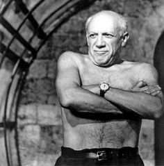 A picture to show how tough Pablo Picasso was