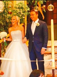 Russell Watson's wedding to Louise Harris
