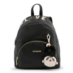 Women's Rucksack Love Moschino Type:Backpack Material:synthetic leather Main fastening:zip Handles:pack handlepadded shoulder straps Inside:lined Internal External Width Height Depth Details:appliquesdustbag includedvisible logo Black Backpack, Leather Backpack, New Love, Bago, Moschino, Fashion Backpack, Shoulder Strap, Backpacks, Zip