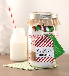 Cookies for Santa with free printable tags